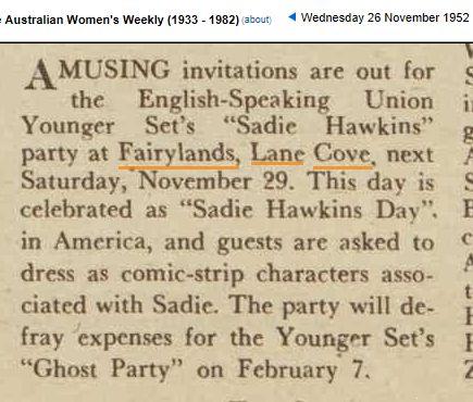 A Sadie Hawkins Day at Fairyland in 1952.