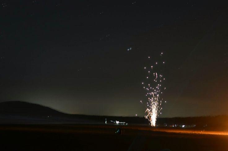 Fireworks on the beach (NYE)