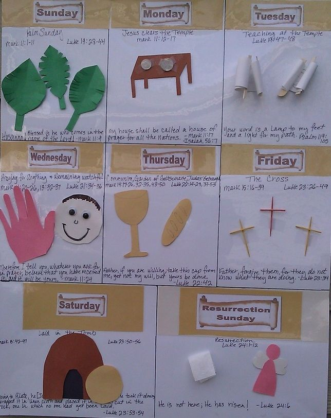 Holy Week Calendar