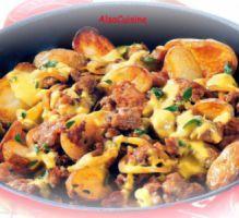 Recette - Viande hachée et pommes de terre à la poêle - Notée 4.1/5 par les internautes
