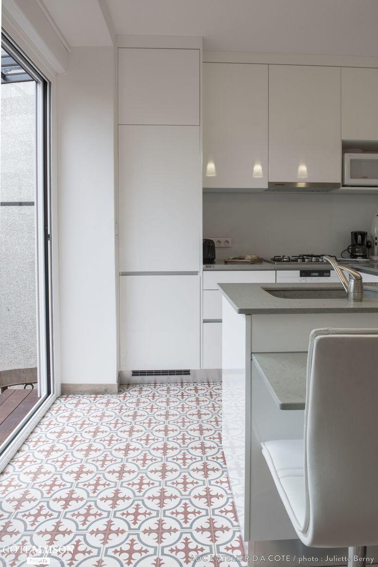 carreaux de ciment dans la cuisine