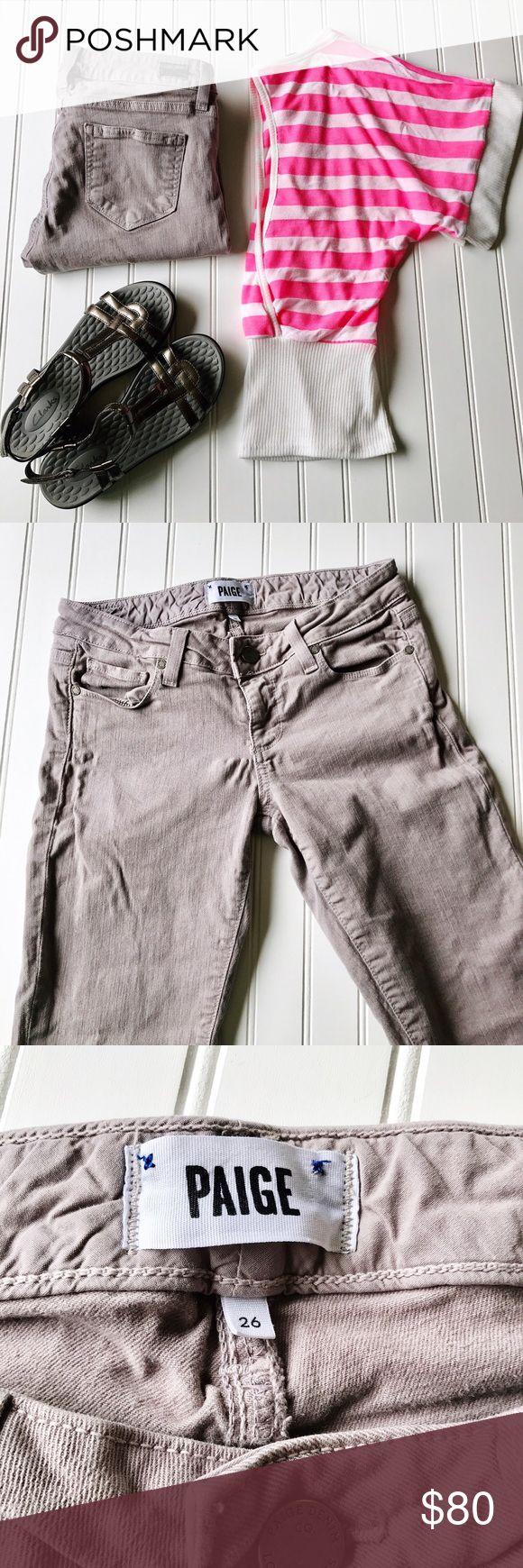 "Paige Jeans Grey Skinny Jeans Paige Jeans Grey Skinny Jeans  Waist 28"" Inseam 28""  Sizing:  •26=2 Paige Jeans Jeans Skinny"