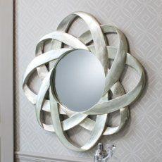 Silver/Champagne Round 'Galaxy' Mirror 91cm