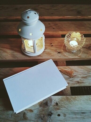 Candles & book on the pallet:)