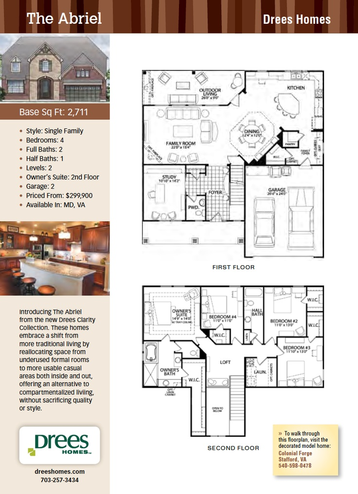 The Abriel, Drees Homes, New Homes Guide