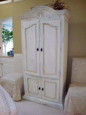 Chalk Paint® decorative paint by Annie Sloan. Old White Armoire