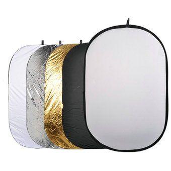 Reflector Rebotador 5 En 1 Para Fotografia 60cm X 90cm
