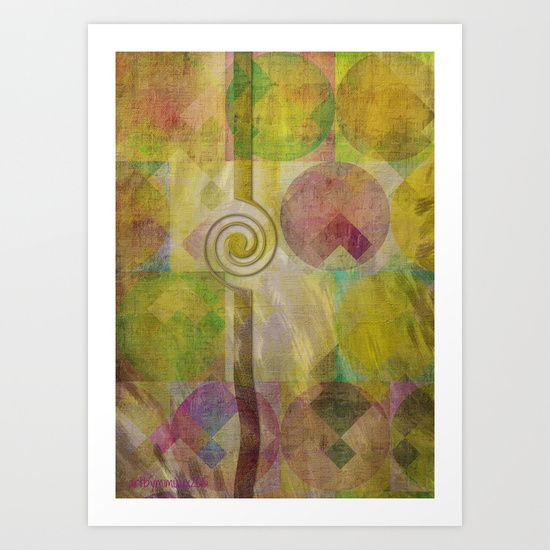 SIMPLICITY  Digital Abstract Geometric Art by mimulux patricia no