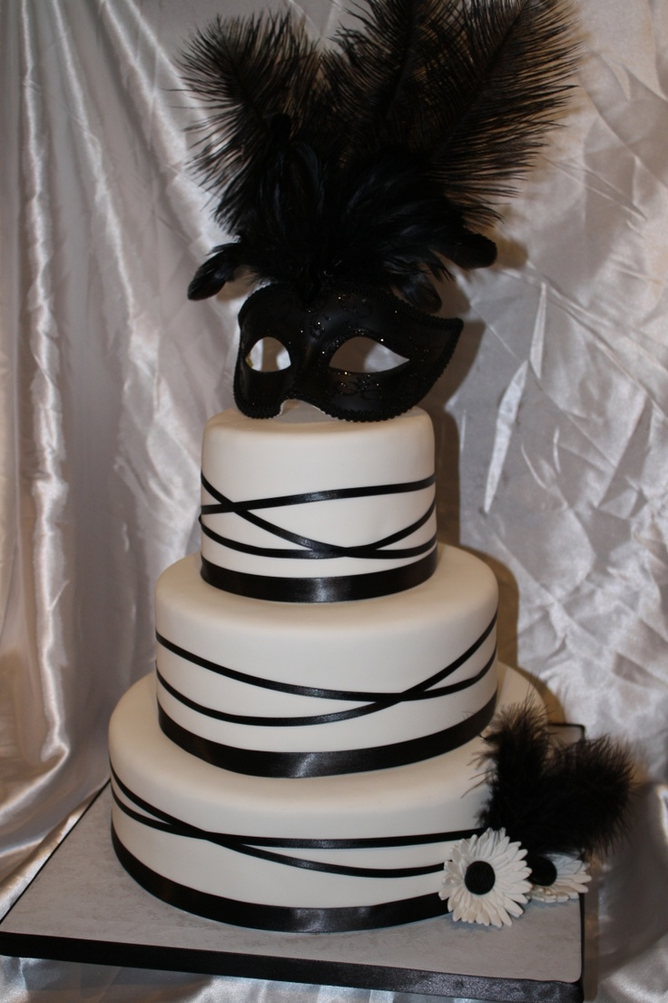 Alanna is in love with this cake.. now to find a baker! We'll change the white to red.