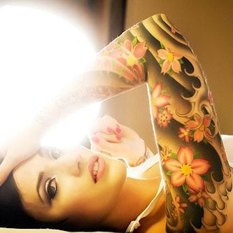 Tathunting for arm tattoos ...rochelle mclean... if anyone has a shot of her other arm / rose full sleeve pls let me know