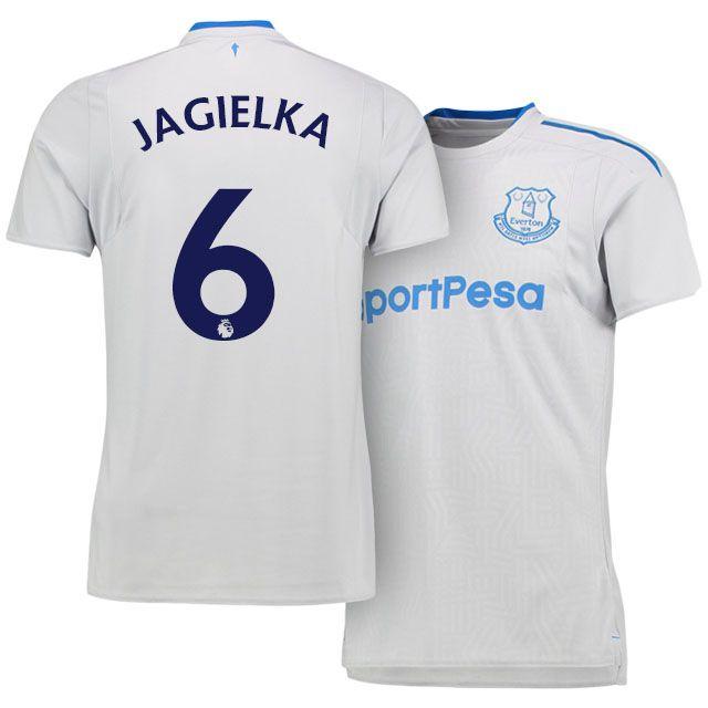 17-18 Everton Shirt Kit phil jagielka Away Top