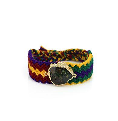 Wayuu Armband met Edelsteen 108 - €39,95