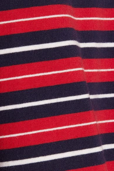 Sleepy Jones - Stevie Striped Cotton Pajama Top - Red -