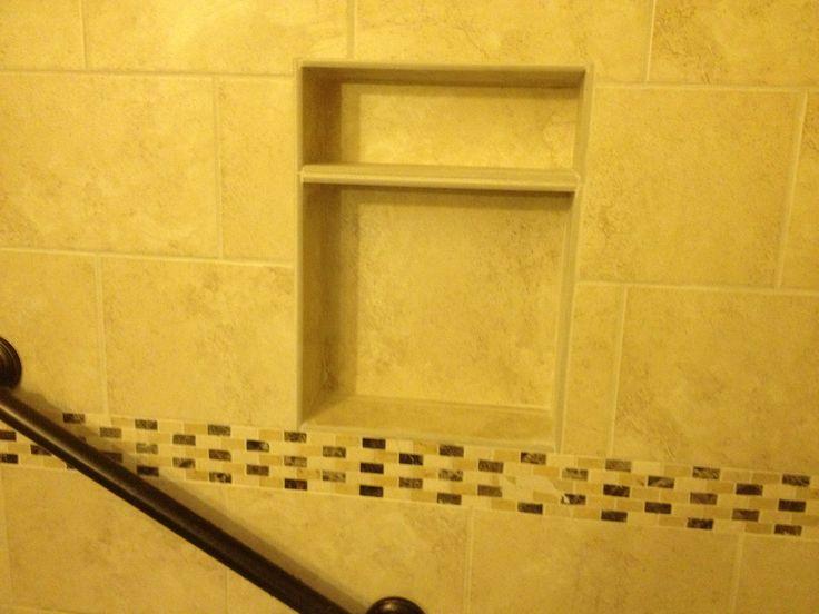 Shower Niche With Grab Bar Bathroom Pinterest Shower