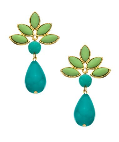 David Aubrey Teal Teardrop Navette Earrings #maxandchloe