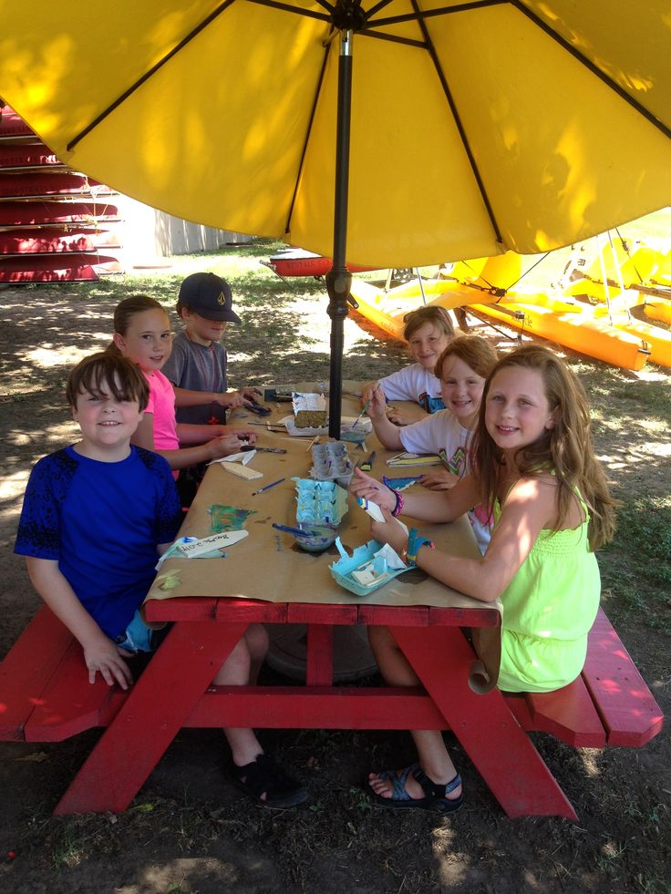After sailing party at one of the available picnic tables at Austin Sailboat Rentals