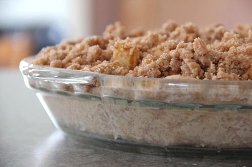 Apple crumble pie topping.  It's amazing! I follow a different recipe for the actual pie, but I use this recipe for the crumble top, amazing!!