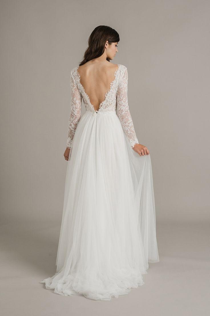 low cut back wedding dress, Sally Eagle Wedding Dress Collection 2017 Genevieve