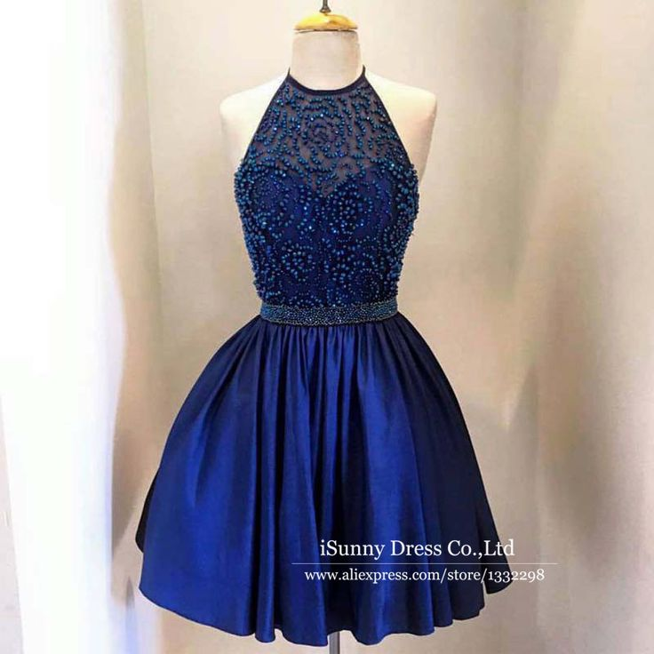Short Mini Fashion Beading 2017 Top selling Halter Backless Custom Homecoming Dresses Party Gown Cheap Formal Gowns