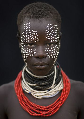 Karo girl with tribal make up - Ethiopia