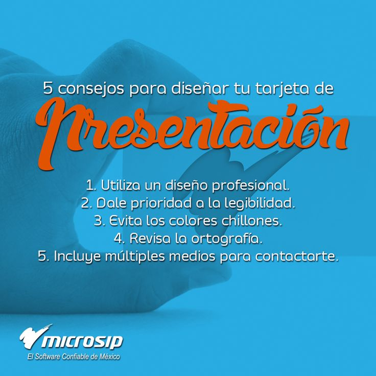 #TipsMicrosip 5 consejos para diseñar tu tarjeta de presentación