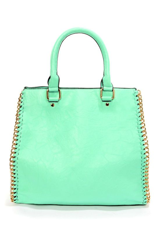 Beautiful mint color: Squeeze Mint Handbag at LuLus.com!