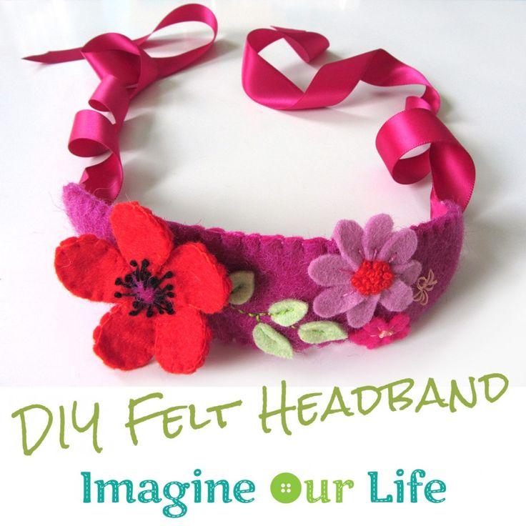 Felt Craft Ideas For Kids Part - 46: DIY Felt Poppy Headband