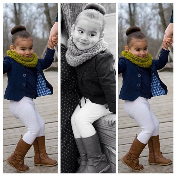 Love the except that you can see her diaper! I would have picked a different color legging