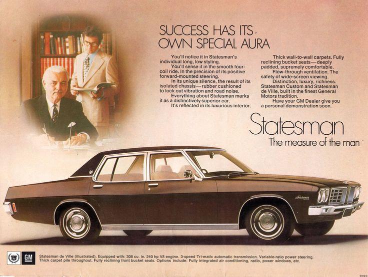 https://flic.kr/p/MfYH98 | 1972 HQ Statesman de Ville by Holden Aussie Original Magazine Advertisement