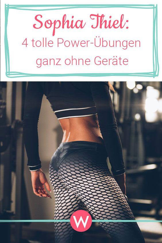 Sophia Thiel Workout: 4 Power-Übungen ganz ohne Geräte – Fitness