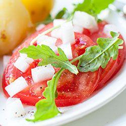 Surówka z pomidora i cebuli | Kwestia Smaku