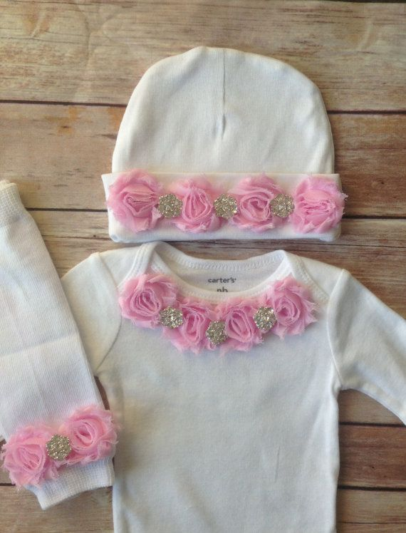 Pink Newborn Outfit Baby Girl Outfit Newborn by AvaMadisonBoutique, $42.00