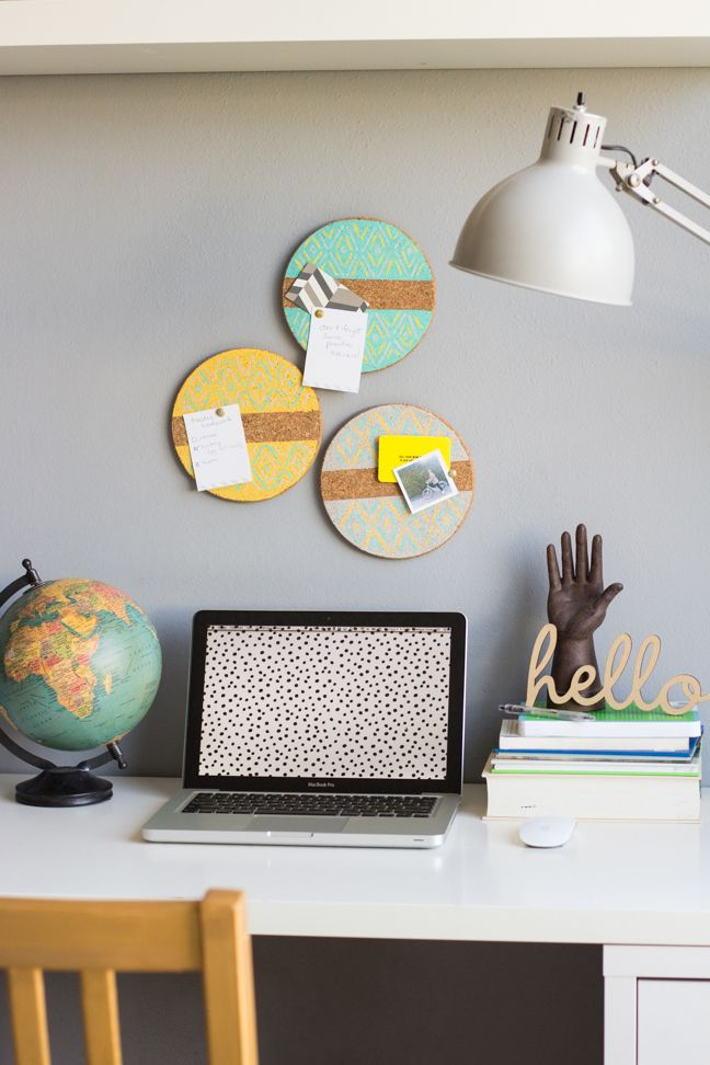 These adorable #DIY bulletin boards make the perfect finishing touch for the bedroom or home office.