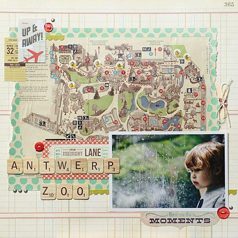 Els Brigé - Antwerp Zoo I love the integrate map Basic Grey Hey You