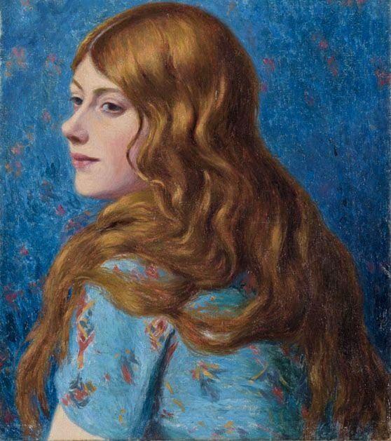 The Redhead ~ Federico Zandomeneghi ~ (Italian: 1841-1917)