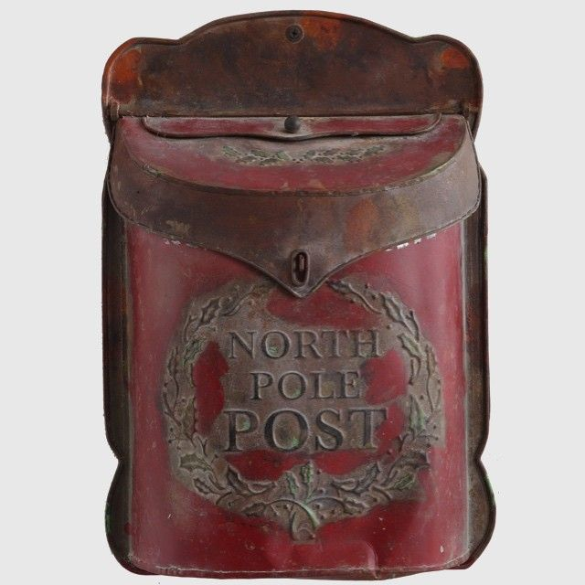 Vintage Style North Pole Post Box