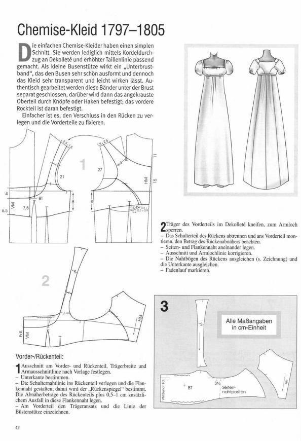 Chemise-Kleid - Historische Schnitte