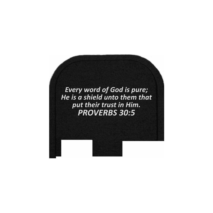 REAR SLIDE PLATE FOR GLOCK 43 - PROVERBS 30:5