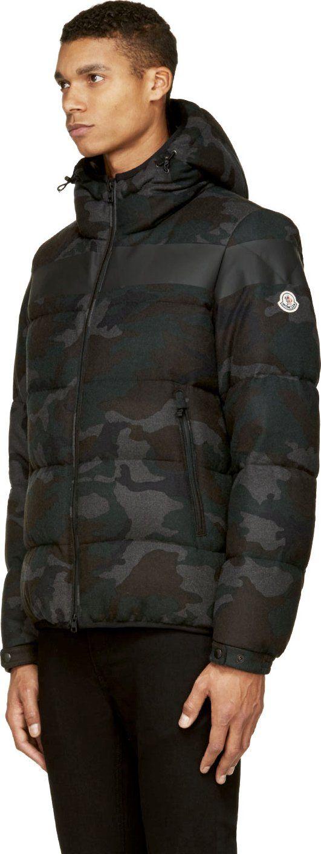 Moncler Green Camo Puffer Erault Jacket