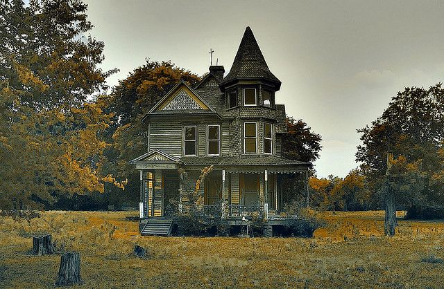 This wonderful old Victorian house sits abandoned on the outskirts of Kosse, Texas