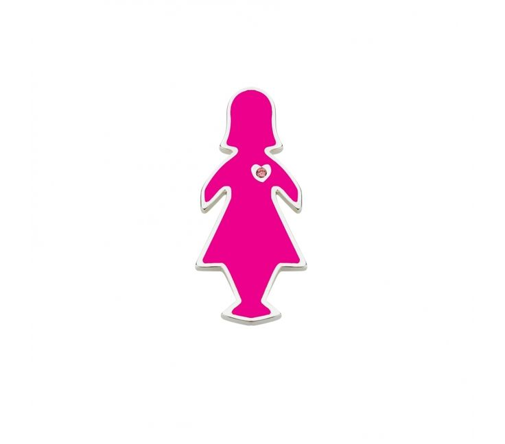 BCNA Special Edition Pink Lady Pin with Swarovski Pink CZ, Pendants, SJ1660