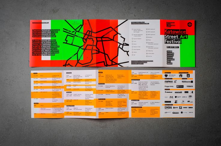 Prints made for Katowice Street Art Festival / leaflets made on silkscreen – each one was different