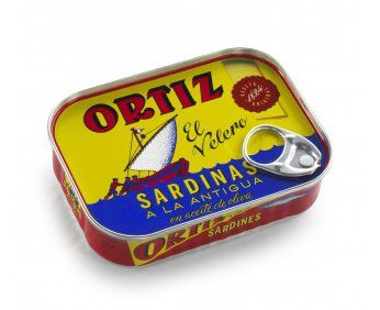 Superb Spanish tinned sardines by Ortiz