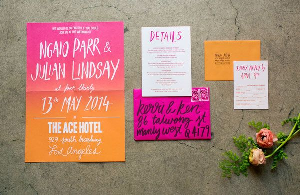 The best 2014 #wedding invitations featured on Oh So Beautiful Paper: http://ohsobeautifulpaper.com/2014/12/best-2014-wedding-invitations-part-2/ | Design: Ngaio Parr