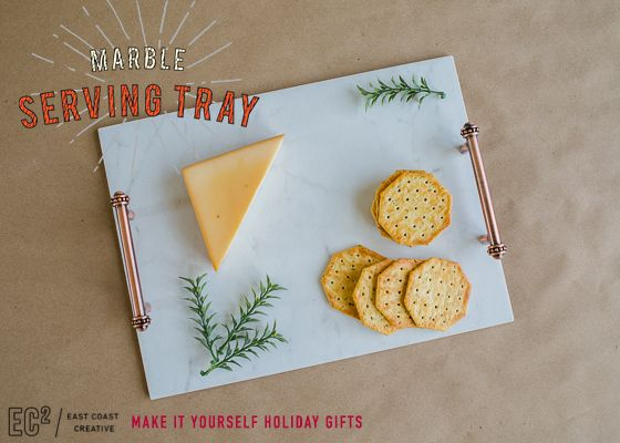 Make-It-Yourself Gifts: Marble Serving Tray | East Coast Creative Blog | Bloglovin'