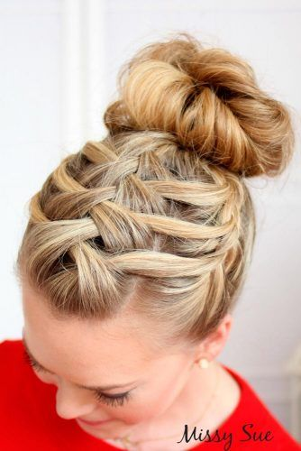 Trendy Updo Hairstyles for Beautiful Prom Look 2