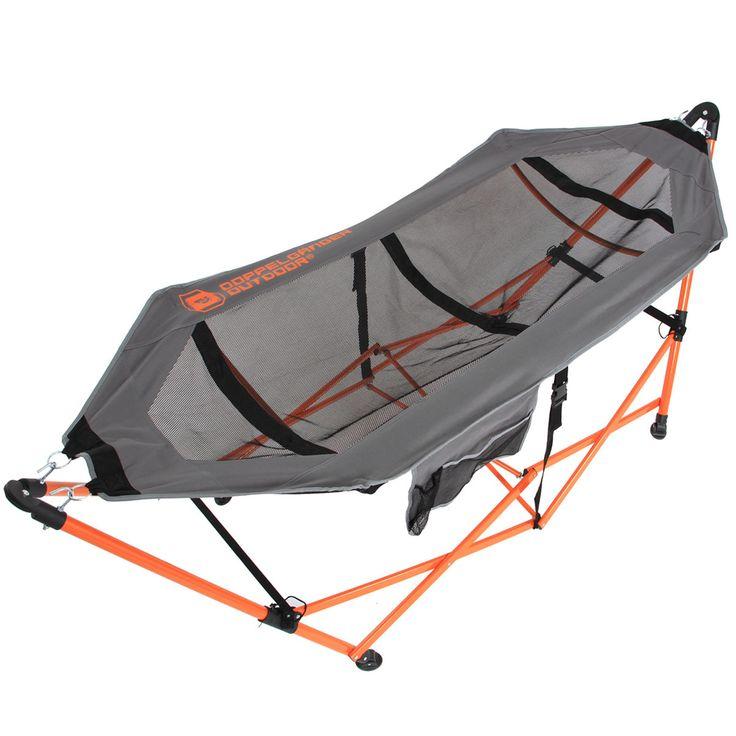 DOPPELGANGER OUTDOOR (ドッペルギャンガーアウトドア) 略してDOD。  超軽量約6kg。どこでも使えるポータブルスタンド付きハンモック。   #キャンプ #アウトドア #テント #タープ #チェア #テーブル #ランタン #寝袋 #グランピング #DIY #BBQ #DOD #ドッペルギャンガー