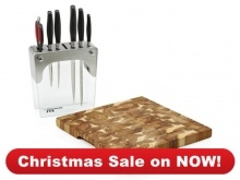 Knives  Stainless Steel Knife Block Set with BONUS Acacia Chopping BoardStainless Steel Knife Block Set with FREE Acacia Chopping Board  Great value and exceptional quality guaranteed    $199 save $279  You'll be hard pressed to find a better value knife bundle of this quality  And with six purpose-designed, professional quality tools you'll never need to buy another knife  Stainless Steel Knife Block Set with FREE Acacia Chopping Board is valued at $478  Christmas Sale on NOW 1 November to…