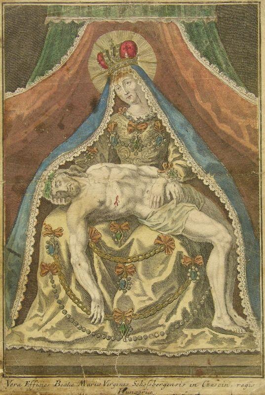Stredoeurópsky grafik - Socha Sedembolestnej Panny Márie v Šaštíne (Pieta Šaštínska)