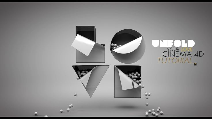 How to UNFOLD TEXT IN CINEMA 4D